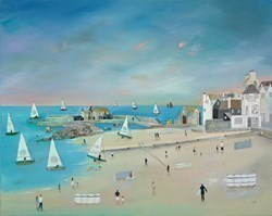 Sunshine Times II by Lucy Young -  sized 39x32 inches. Available from Whitewall Galleries